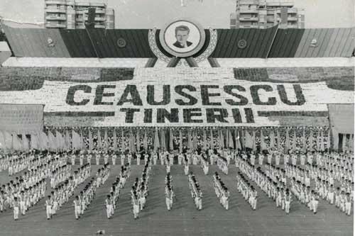 Communism parade Nicolae Ceausescu