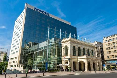 novotel and calea victoriei avenue